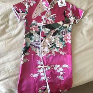 Chinese Dress.  Pure Silk .  Size 5
