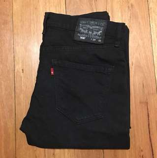 Levi's 508 black straight cut jean