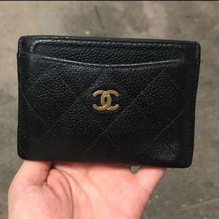 新年蝕讓🈹💥🈹💥 日本中古 Chanel 經典黑色 實用多格 card holder (可八達通 信用咭等)