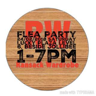 Flea party lucky plaza 24/02/2018 Sat 1-7pm