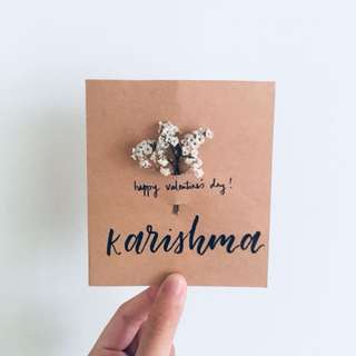 Floral Calligraphy Card
