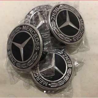 New Black Wreath Mercedes Wheel Cap