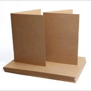 Brown Kraft Card (Set of 5)