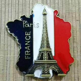 Magnet Kulkas Besi France Paris GG