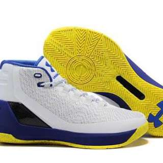 UNDER ARMOUR CURRY 3 (DUB NATION HOME) White, Blue, Yellow