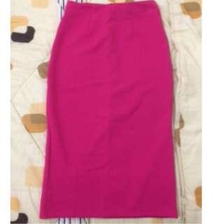 #cintadiskon midi skirt pink