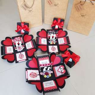 Valentines Day Handmade Explosion Box Cards