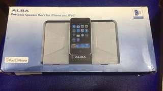 Alba speaker dock for iphone and ipod