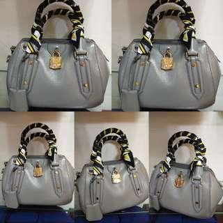 Burberry luxury gray bag