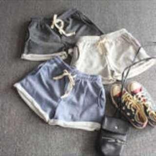 Korean Casual Grey Shorts