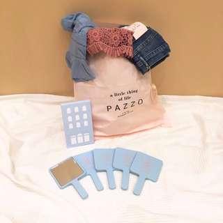 🚚 降<現貨>只有一組 PAZZO Meire.q 特賣會 滿額贈禮 粉藍色 手拿鏡 原價490 #含運最划算