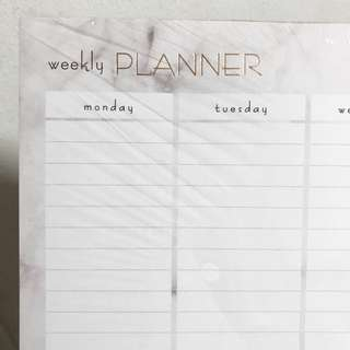 Typo A3 Marble Weekly Planner