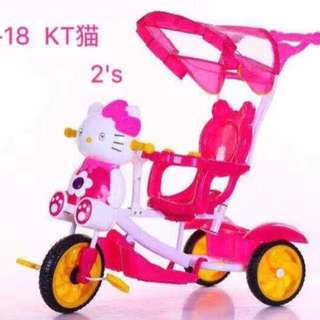2 in 1 Pink Stroller/Bike with Handle
