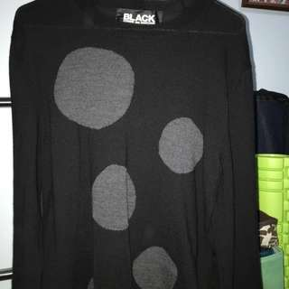 COMME des GARÇONS BLACK 波點冷衫