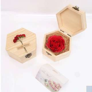 Pastel rose flower box valentines day special (2 left)