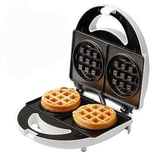 全新電熱夾式鬆餅機 圓形厚片🥞