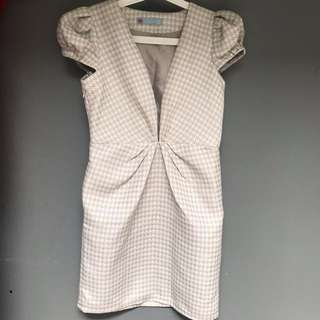 houndstooth patern dress (REPRICE!!!)