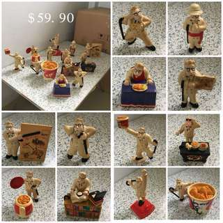 Set Of 12 KFC Chefs Figurines Collection Set