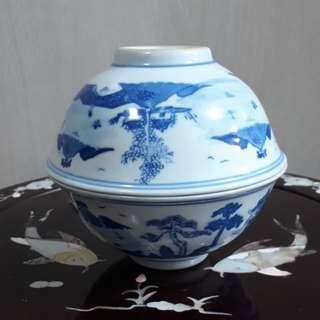 A pair of antique bowls
