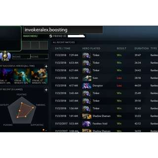 Dota 2 MMR BOOSTING / CALIBRATION Service