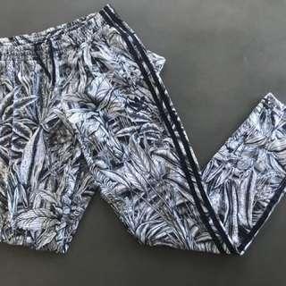 Adidas leaf print track pants