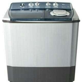 LG mesin cuci top load 2 tabung bisa cicilan proses 3 menit