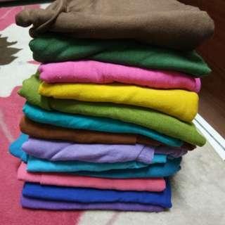 Semi instant shawl plain