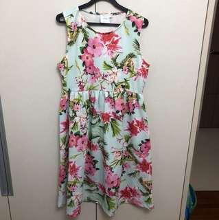 ASOS maternity mint floral dress