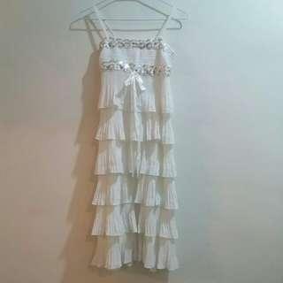 小禮服 白裙 蛋糕裙 white #女裝半價