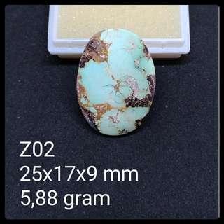 Batu Pirus Persia Z02 Natural Pyrus Turquoise Akik