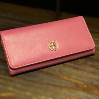Tory burch robinson wallet (Pink)
