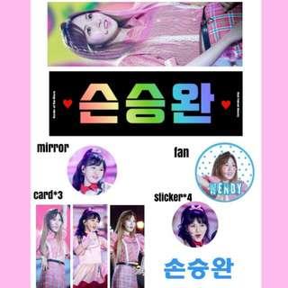 🚚 Wendy Flavor 手幅 Red Velvet slogan