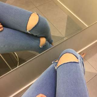 Punny ripped jeans