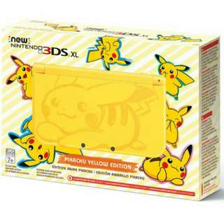 PIKACHU 3DS XL (ALL FOR $350) FAST DEAL!!!