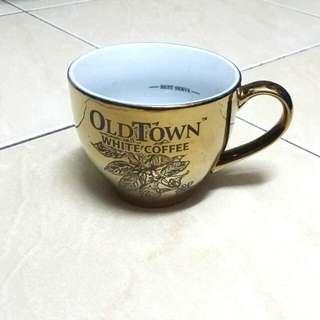 Gold Oldtown White Coffee Mug