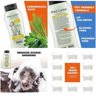 USA MADE Brand New Wahl 100% Natural Pet Shed Control Shampoo 709ml