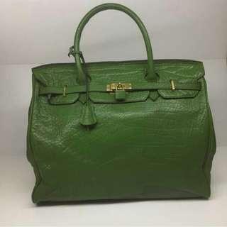 Green handbag (Authentic)  sebiji macam hermes birkin