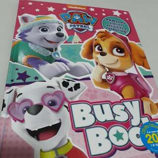 Paw patrol busy book