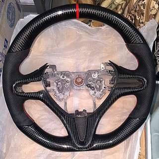 Ready Stock 1pc. Civic Fd Carbon Steering Replacement. 1 To 1 Swop. Real Carbon Fiber. Fd1 Fd2 Fd4 Fd2r all Can Fix. Not Mugen Spoon Sports Js Racing.