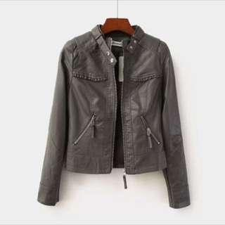清貨🔥leather jacket仿皮biker褸