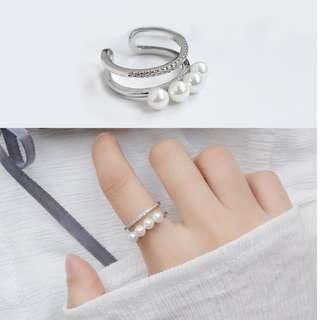 韓版珍珠戒指