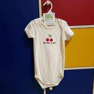 New! 18 mths organic cotton Hudson Baby romper