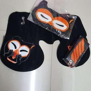 旅行用三件組-眼罩/頸枕/行李綁帶