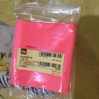 Silicon / silikon / karet powerbank xiaomi 10400 mAh pink