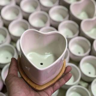 Heart shape pot with base