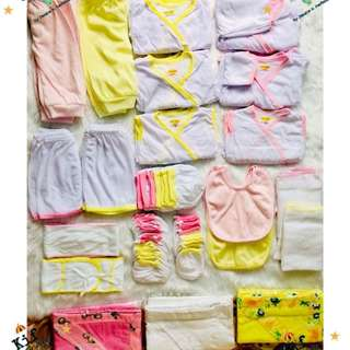 Newborn Clothes Set (Colored Lining)