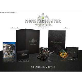 Monster Hunter World Limited Collector's Edition Asia R3 New MISB PS4 Playstation 4
