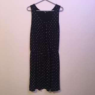Polka dot sleeveless dress size L Uniqlo like new