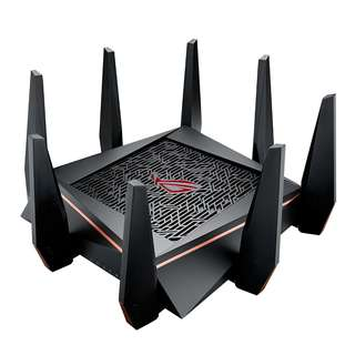 [IN-STOCK] ASUS ROG AC5300 WiFi Tri-band Gigabit Wireless Router with 4x4 MU-MIMO, 8x LAN Ports, AiProtection Network Security and WTFast Game Accelerator, AiMesh Whole Home WiFi System Compatible (GT-AC5300)