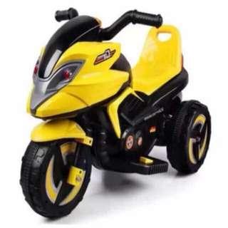 Yellow Big Bike Rechargeable Motorcycle Toy